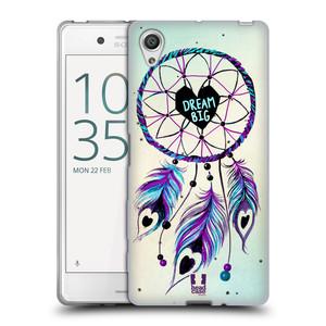Silikonové pouzdro na mobil Sony Xperia X HEAD CASE Lapač Assorted Dream Big Srdce