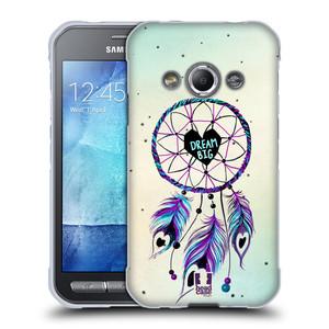 Silikonové pouzdro na mobil Samsung Galaxy Xcover 3 HEAD CASE Lapač Assorted Dream Big Srdce
