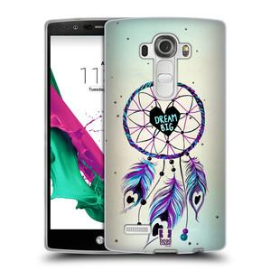 Silikonové pouzdro na mobil LG G4 HEAD CASE Lapač Assorted Dream Big Srdce
