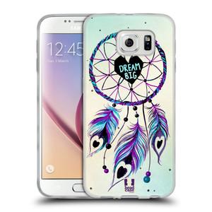 Silikonové pouzdro na mobil Samsung Galaxy S6 HEAD CASE Lapač Assorted Dream Big Srdce