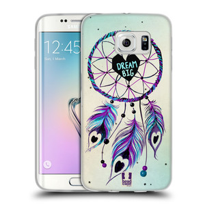 Silikonové pouzdro na mobil Samsung Galaxy S6 Edge HEAD CASE Lapač Assorted Dream Big Srdce