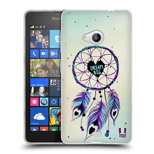 Silikonové pouzdro na mobil Microsoft Lumia 535 HEAD CASE Lapač Assorted Dream Big Srdce
