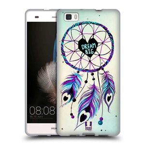 Silikonové pouzdro na mobil Huawei P8 Lite HEAD CASE Lapač Assorted Dream Big Srdce