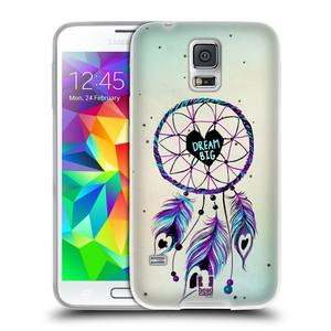 Silikonové pouzdro na mobil Samsung Galaxy S5 Neo HEAD CASE Lapač Assorted Dream Big Srdce
