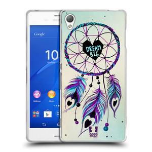 Silikonové pouzdro na mobil Sony Xperia Z3 D6603 HEAD CASE Lapač Assorted Dream Big Srdce