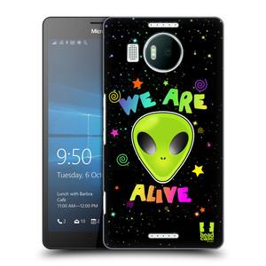 Plastové pouzdro na mobil Microsoft Lumia 950 XL HEAD CASE ALIENS ALIVE