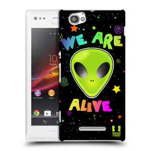 Plastové pouzdro na mobil Sony Xperia M C1905 HEAD CASE ALIENS ALIVE