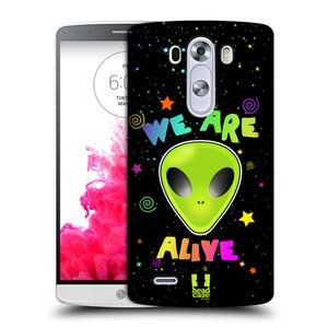 Plastové pouzdro na mobil LG G3 HEAD CASE ALIENS ALIVE