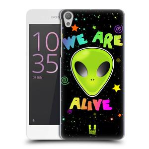 Plastové pouzdro na mobil Sony Xperia E5 HEAD CASE ALIENS ALIVE