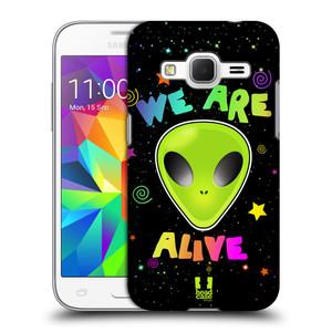 Plastové pouzdro na mobil Samsung Galaxy Core Prime LTE HEAD CASE ALIENS ALIVE