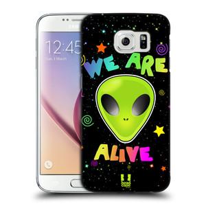 Plastové pouzdro na mobil Samsung Galaxy S6 HEAD CASE ALIENS ALIVE