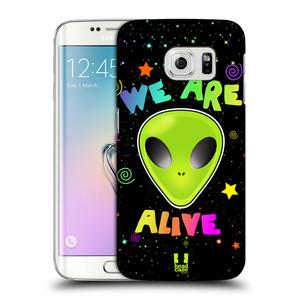Plastové pouzdro na mobil Samsung Galaxy S6 Edge HEAD CASE ALIENS ALIVE