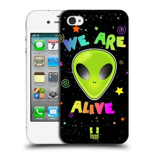 Plastové pouzdro na mobil Apple iPhone 4 a 4S HEAD CASE ALIENS ALIVE