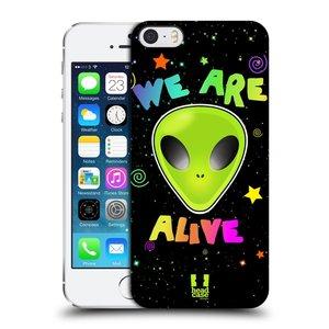 Plastové pouzdro na mobil Apple iPhone SE, 5 a 5S HEAD CASE ALIENS ALIVE