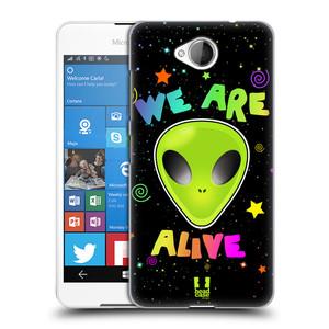 Plastové pouzdro na mobil Microsoft Lumia 650 HEAD CASE ALIENS ALIVE