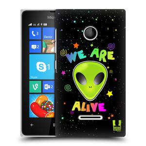 Plastové pouzdro na mobil Microsoft Lumia 435 HEAD CASE ALIENS ALIVE