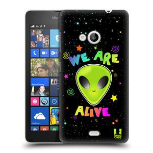 Plastové pouzdro na mobil Microsoft Lumia 535 HEAD CASE ALIENS ALIVE