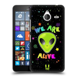 Plastové pouzdro na mobil Microsoft Lumia 640 XL HEAD CASE ALIENS ALIVE