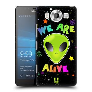 Plastové pouzdro na mobil Microsoft Lumia 950 HEAD CASE ALIENS ALIVE