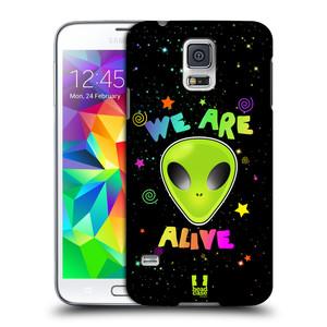 Plastové pouzdro na mobil Samsung Galaxy S5 Neo HEAD CASE ALIENS ALIVE