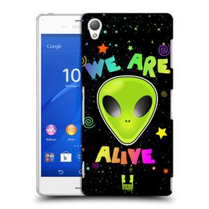 Plastové pouzdro na mobil Sony Xperia Z3 D6603 HEAD CASE ALIENS ALIVE