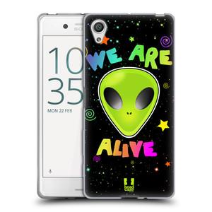 Silikonové pouzdro na mobil Sony Xperia X HEAD CASE ALIENS ALIVE