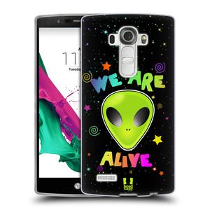 Silikonové pouzdro na mobil LG G4 HEAD CASE ALIENS ALIVE