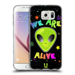Silikonové pouzdro na mobil Samsung Galaxy S6 HEAD CASE ALIENS ALIVE