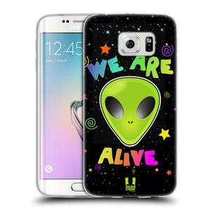 Silikonové pouzdro na mobil Samsung Galaxy S6 Edge HEAD CASE ALIENS ALIVE