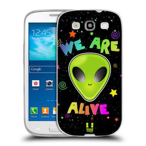 Silikonové pouzdro na mobil Samsung Galaxy S3 Neo HEAD CASE ALIENS ALIVE