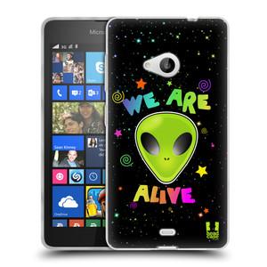 Silikonové pouzdro na mobil Microsoft Lumia 535 HEAD CASE ALIENS ALIVE