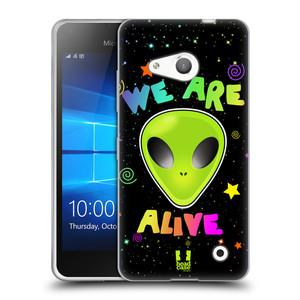 Silikonové pouzdro na mobil Microsoft Lumia 550 HEAD CASE ALIENS ALIVE