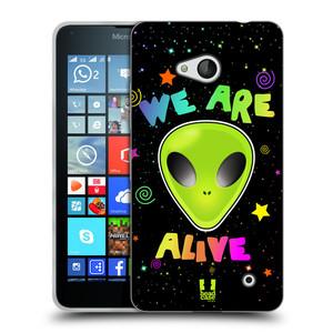 Silikonové pouzdro na mobil Microsoft Lumia 640 HEAD CASE ALIENS ALIVE