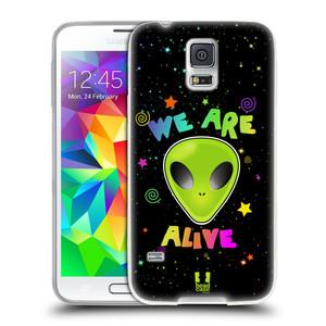 Silikonové pouzdro na mobil Samsung Galaxy S5 Neo HEAD CASE ALIENS ALIVE