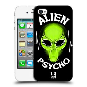 Plastové pouzdro na mobil Apple iPhone 4 a 4S HEAD CASE ALIENS PSYCHO