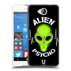 Plastové pouzdro na mobil Microsoft Lumia 650 HEAD CASE ALIENS PSYCHO