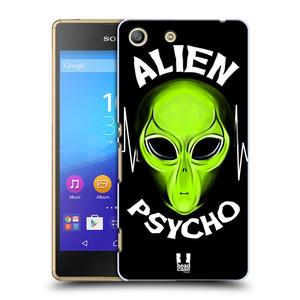 Plastové pouzdro na mobil Sony Xperia M5 HEAD CASE ALIENS PSYCHO
