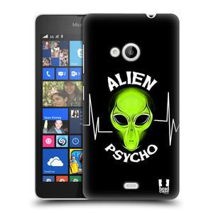 Plastové pouzdro na mobil Microsoft Lumia 535 HEAD CASE ALIENS PSYCHO