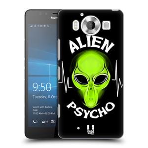 Plastové pouzdro na mobil Microsoft Lumia 950 HEAD CASE ALIENS PSYCHO