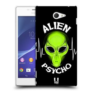 Plastové pouzdro na mobil Sony Xperia M2 D2303 HEAD CASE ALIENS PSYCHO