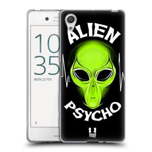 Silikonové pouzdro na mobil Sony Xperia X HEAD CASE ALIENS PSYCHO
