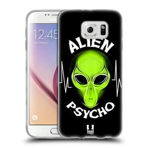 Silikonové pouzdro na mobil Samsung Galaxy S6 HEAD CASE ALIENS PSYCHO