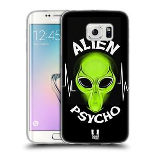 Silikonové pouzdro na mobil Samsung Galaxy S6 Edge HEAD CASE ALIENS PSYCHO