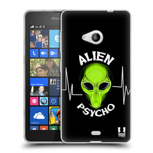 Silikonové pouzdro na mobil Microsoft Lumia 535 HEAD CASE ALIENS PSYCHO