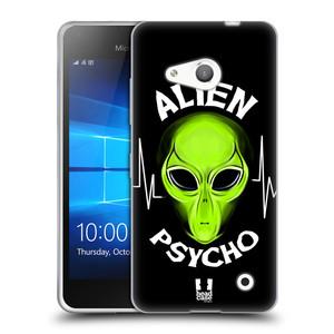 Silikonové pouzdro na mobil Microsoft Lumia 550 HEAD CASE ALIENS PSYCHO