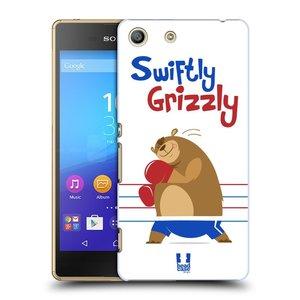 Plastové pouzdro na mobil Sony Xperia M5 HEAD CASE SPORTOVEC MEDVĚD