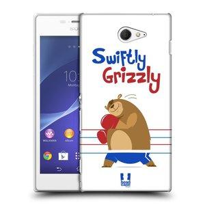 Plastové pouzdro na mobil Sony Xperia M2 D2303 HEAD CASE SPORTOVEC MEDVĚD