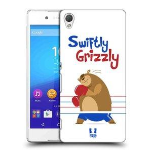 Plastové pouzdro na mobil Sony Xperia Z3+ (Plus) HEAD CASE SPORTOVEC MEDVĚD