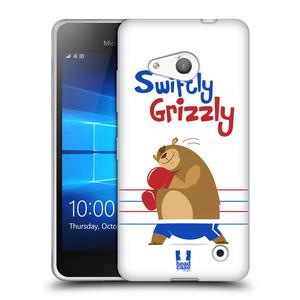 Silikonové pouzdro na mobil Microsoft Lumia 550 HEAD CASE SPORTOVEC MEDVĚD