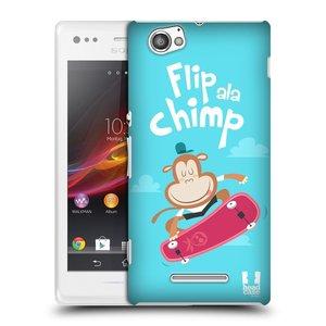 Plastové pouzdro na mobil Sony Xperia M C1905 HEAD CASE SPORTOVEC OPIČÁK